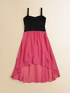 Sally Miller Girl's Colorblocked Hi-Lo Dress I want