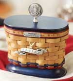 2013 Inaugural™ Basket Set with WoodCrafts Lid-62777