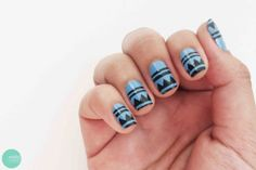 Make your own aztec nail art stencils with this free download @ mintedstrawberry.blogspot.com