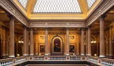 Architecture and LED lighting design come together at the Reform Club, London. Led Light Design, Lighting Design, Museum Lighting, Listed Building, Three Dimensional, Louvre, England, Culture, Club