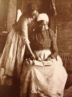 """Freed Slave Learning to Read """"Chains can put a man in slavery, but only ignorance can keep him there"""" - Frederick Douglass.  I purchased this postcard at the Black History Museum in Alexandria, VA (Mary Wells)"""
