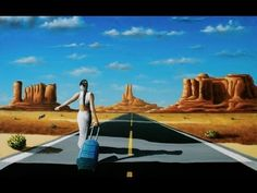 Walkabout - Acrylic Time Lapse Painting by nagualero Purple Cow, Walkabout, Create Image, Painting Videos, Monument Valley, Fantasy Art, Connect, My Arts, Explore