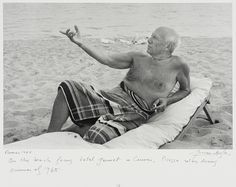 Picasso on the Beach, Cannes Portfolio: Picasso Lucien Clergue (France, born 1934) France, 1965 Photographs Gelatin-silver print Unframed: 15 1/2 x 11 5/8 in. (39.37 x 29.53 cm) Gift of Mr. and Mrs. Stephen Dizard (M.83.299.11) Photography