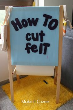 Tutorial: Secret to Cutting Felt - Trace your pattern, picture, whatever you want to cut onto Freezer Paper.  Iron it onto the felt until it stays.  Iron the shiny end onto the felt, the papery feeling side should be on top. Cut around your pattern and then peel off the freezer paper using plain scissors.
