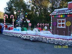 Candyland Christmas Float parade-floats