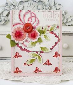 Hello Friend Card by Melissa Phillips for Papertrey Ink (December 2012)
