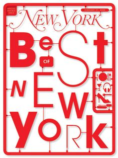 Submission for Best of New York cover for New York magazine, by Tom Brown Art+Design (TBA+D) Book Cover Design, Book Design, Layout Design, Print Design, Type Design, Cool Typography, Typography Letters, Graphic Design Typography, Editorial Design