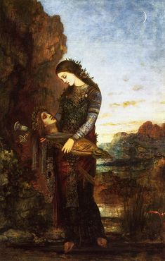 Gustave Moreau - Young Thracian Woman Carrying the head of Orpheus