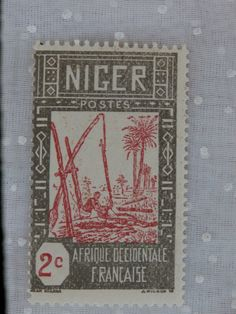 Unused 1926-40 2 c Niger Wells Stamp French West Africa Stamp. More old stamps…