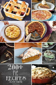 200+ Pie Recipes at TidyMom.net 4th annual #LoveThePie Party