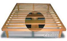 RETI A DOGHE in legno di faggio, con telaio in legno e doga diritta ideale per l'uso con i materassi Futon ed i materassi in lattice. Reti a doghe inclinabili con telaio in legno