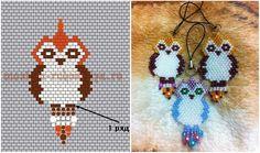 Bead PATTERN flat owl