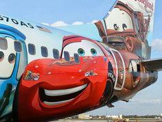 Alaska Air's Cars paint job.