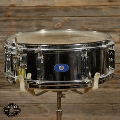 Leedy 5x14 Chrome Over Brass Snare Drum 1960
