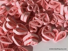 Hearts Pink Raspberry Taffy Table Confetti Dinner Ornaments Baby Bridal Shower Party Decorations Gift Fillers Party Confetti Paper Quilling