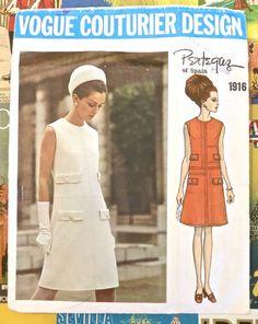 Vogue 1916  Vintage 1960s Pertegaz Dress Pattern  by Fragolina