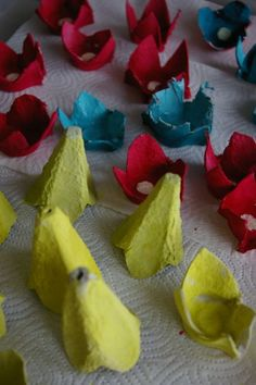 egg carton flowers! make a wreath or string lights
