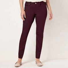 Women's LC Lauren Conrad Skinny Jeans, Size: 10 Short, Red
