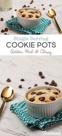 This single-serving cookie pot is crisp and golden on the outside, rich and chewy within.