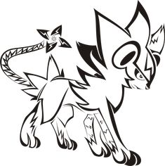 Amazing this was one of my main Pokemon Luxray Pokemon, My Pokemon, Pokemon Fusion, Tribal Animal Tattoos, Tribal Art, Tribal Pokemon, Best 3d Tattoos, Deadpool Pikachu, Flame Tattoos