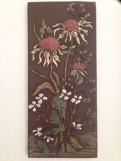 RUSCHA ART Keramik Bild Wandplatte 70er Jahre wünderschön Geschenk