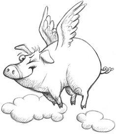 flying pig by Linda Silvestri