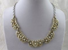 Vintage Hearts Necklace by Coro