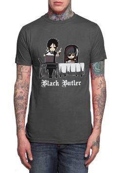 Amazon.com: Black Butler Sebastian  Ciel Slim-Fit T-Shirt