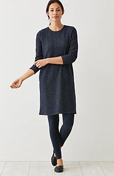 Pure Jill textured knit dress