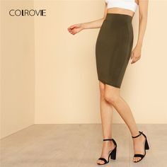 Price $13.49 COLROVIE Solid Pencil Work Skirt 2018 New Spring High Waist Stretchy Women Clothing Knee Length Plain Bodycon Skirt     Tag a friend who would love this!       Get it here ---> https://www.fashiondare.com/colrovie-solid-pencil-work-skirt-2018-new-spring-high-waist-stretchy-women-clothing-knee-length-plain-bodycon-skirt/