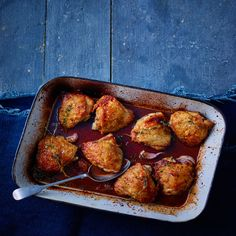 Natural sweeteners aren't just for sweet treats. A little date syrup pairs beautifully with these roast chicken thighs.