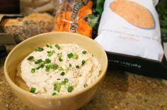 Shallot Hummus with Scallions