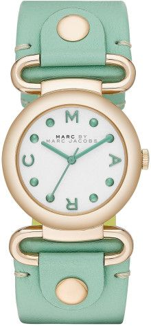 Marc By Marc Jacobs Molly Green Leather Ladies Watch - Lyst
