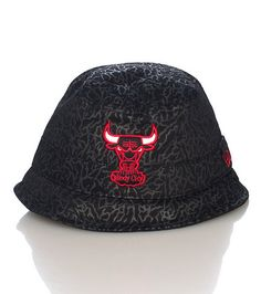 3c1e748093a NEW ERA Chicago Bulls bucket hat All-over elephant print NEW ERA sttiching  on sides Cotton material .