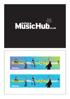 Logo design and branding for Suffolk Music Hub website. Created by Norwich based graphic design agency http://www.creativegiant.co.uk