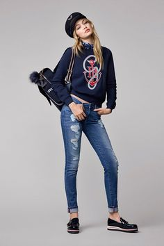 First Look: The Gigi Hadid x Tommy Hilfiger Collaboration Is So Good via @WhoWhatWear