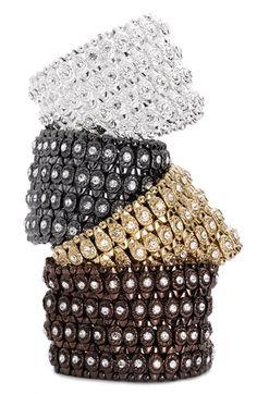 Cara Accessories Crystal Circle Stretch Bracelet @ Nordstrom