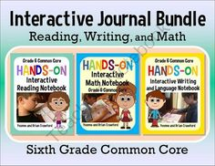 Interactive Notebook Hands-On Sixth Grade Common Core Bundle $