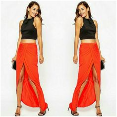 ASOS Wrap Maxi Skirt MAXI SKIRT BY ASOS COLLECTION in Chile Red. Light weight jersey, high-rise elasticated waistband, and wrap front. Regular fit - true to size, US 2. Material is 100% Viscose. Brand new with tags. ASOS  Skirts Maxi