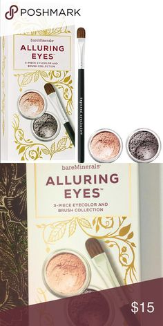 Bareminerals alluring Eyes eyeshadow kit 3 PC  NEW New in box. Ready to gift!  We ship next day⚡️Lightening FAST ⚡️ ❌Trades❌ Bundle for discounts bareMinerals Makeup Eyeshadow