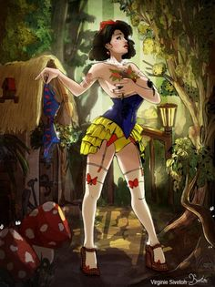 Blanche neige version Pin Up
