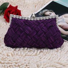 New Fashion Women's Evening Bag Shining Rhinestone Handbag Shoulder Bag Clutch Bag with Chain