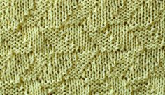 Easy knit pattern for beginners with knit and purl stitches