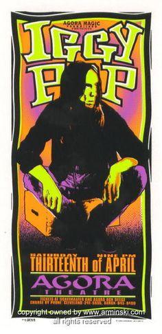 1996 Iggy Pop Concert Handbill by Mark Arminski (MA-9613)