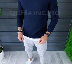 Bluza barbati slim fit bleumarin ZR A2661 O3-5