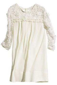 ROMWE   Cut-out Flower Embroidered Cropped White Dress, The Latest Street Fashion #ROMWEROCOCO