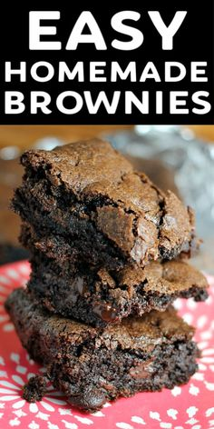 Quick Brownie Recipe, Quick Easy Brownies, Brownie Recipes, Easy Homemade Brownies, Homemade Snickers, Dark Chocolate Recipes, Easy Chocolate Desserts, Dark Chocolate Brownies, Fudgy Brownies