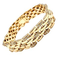 db838273a30 Cartier Maillon Panthere Diamond Five Row Link Gold Bracelet 1   FineJewelryEarringsFashion  FineJewelryNecklaceHarryWinston Mens Diamond