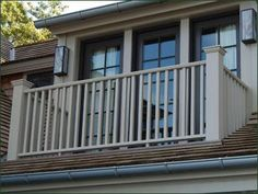 Cellular PVC Pendleton Railing -  Crafted in cellular PVC, the Pendleton balcony railing exudes high quality and understated style, with the additional benefit of requiring little to no maintenance.