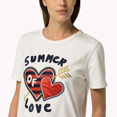 Tommy Hilfiger Katoenen T-shirt Met Hart - snow white (Wit) - Tommy Hilfiger Tops - detailbeeld 2
